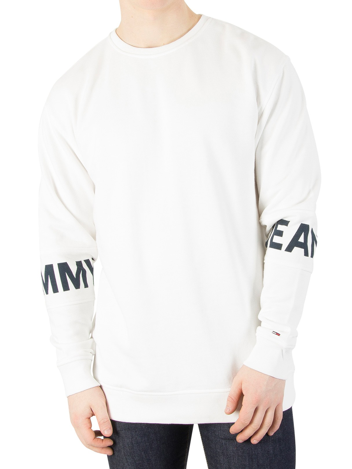 Men's Tommy Jeans White Essential Banded Sweatshirt