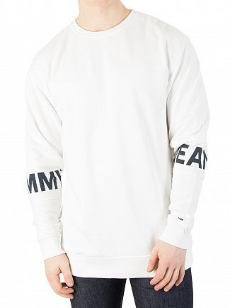 Tommy Jeans White Essential Banded Sweatshirt