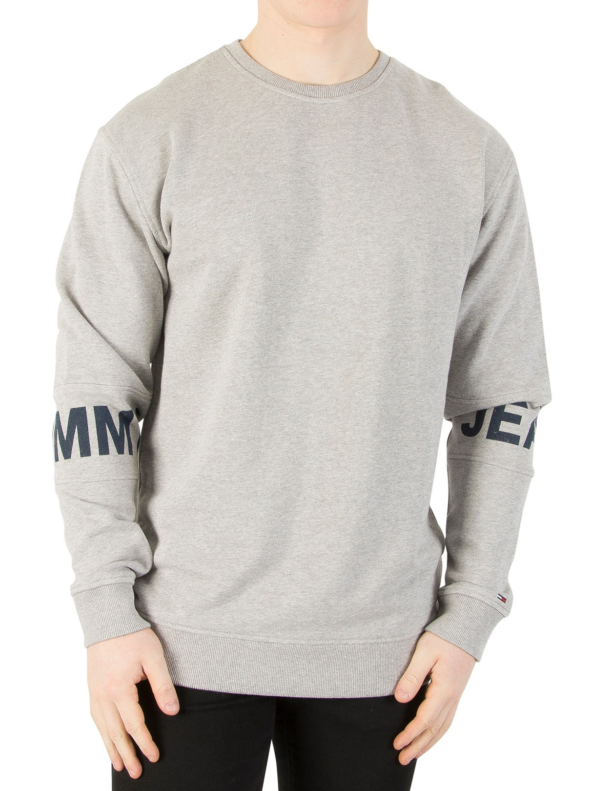 Men's Tommy Jeans Light Grey Heather Essential Banded Sweatshirt