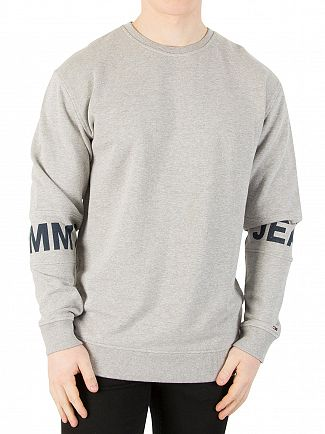 Tommy Jeans Light Grey Heather Essential Banded Sweatshirt