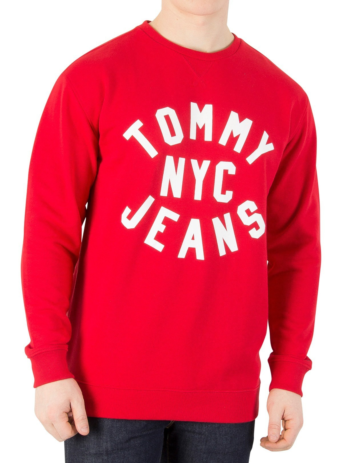 Men's Tommy Jeans Racing Red Essential Graphic Sweatshirt