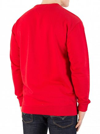 Tommy Jeans Racing Red Essential Graphic Sweatshirt