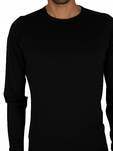 John Smedley Black Crew Neck Knit