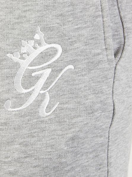 Gym King Grey Marl Core Logo Joggers