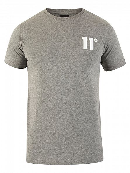 11 Degrees Charcoal Core Logo T-Shirt
