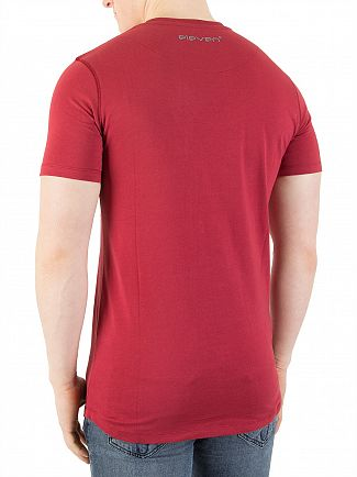 11 Degrees Burnt Red Core T-Shirt