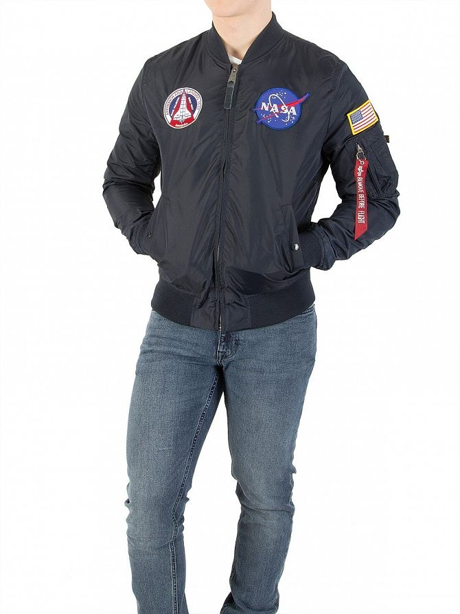 Alpha Industries Men s MA-1 TT Nasa Reversible Jacket baab72e336