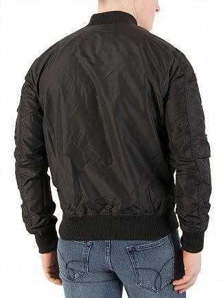 Alpha Industries Black MA-1 TT Patch Jacket