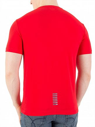 EA7 Racing Red Chest Logo T-Shirt