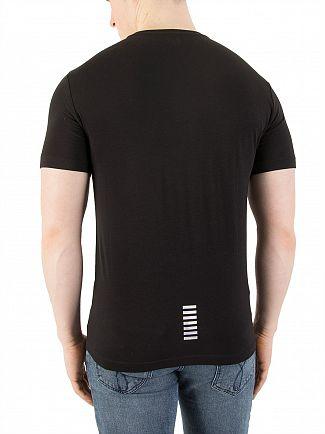 EA7 Black Chest Logo T-Shirt