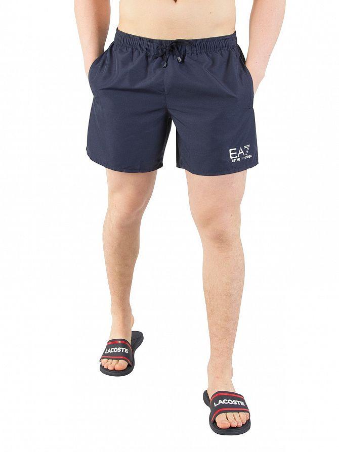 EA7 Navy Blue Sea World Swim Shorts