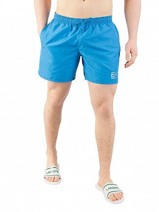 EA7 Turquoise Blue Sea World Swim Shorts