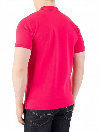 Gant Rose Red Contrast Collar Pique Polo Shirt
