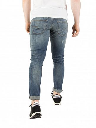 G-Star Vintage Medium Aged 3301 Deconstructed Super Slim Jeans