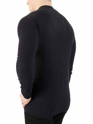 John Smedley Midnight 6.Singular Honeycomb Jacket