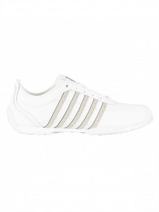 K-Swiss White/Silver Cloud/Charcoal Arvee 1.5 Trainers