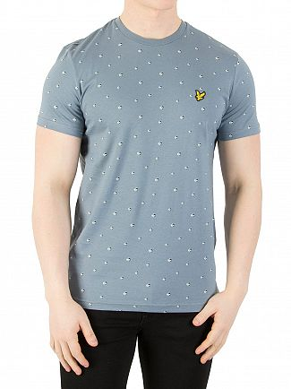 Lyle & Scott Mist Blue Beachball Print T-Shirt