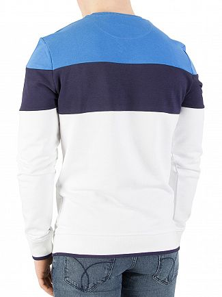 Lyle & Scott White Casuals Block Stripe Sweatshirt