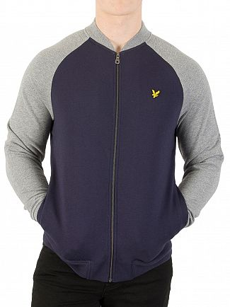 Lyle & Scott Navy Bomber Sweatshirt
