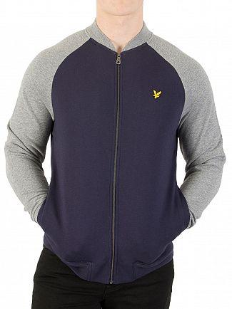 Lyle & Scott Navy Bomber Sweatshirt