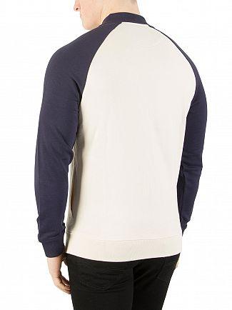 Lyle & Scott Seashell White Bomber Sweatshirt