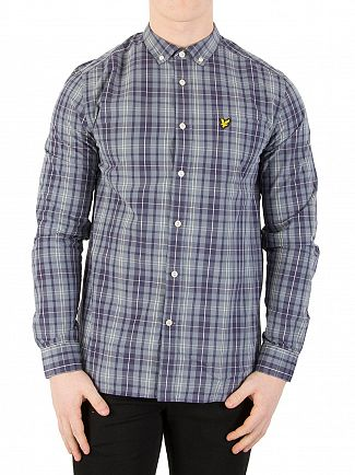 Lyle & Scott Mist Blue Check Shirt