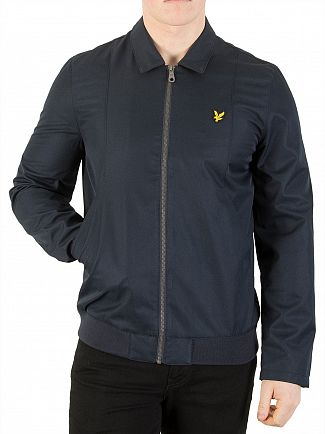 Lyle & Scott Dark Navy Collared Bomber Jacket