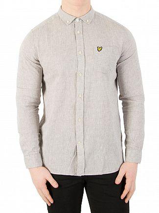 Lyle & Scott True Grey Cotton Linen Shirt