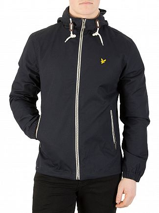 Lyle & Scott Dark Navy Hooded Twill Jacket