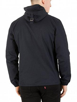 Lyle & Scott Dark Navy Hooded Twill Jacket