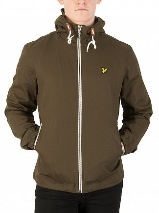 Lyle & Scott Dark Sage Hooded Twill Jacket