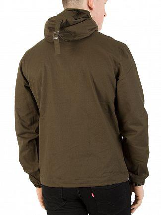 Lyle & Scott Dark Sage Hooded Twill Jacket