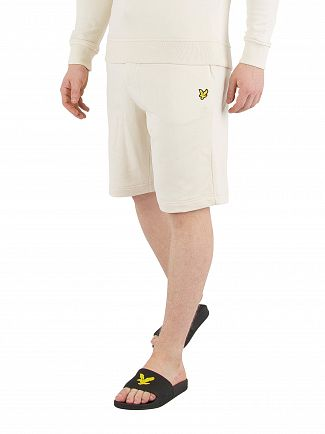 Lyle & Scott Seashell White Logo Sweat Shorts