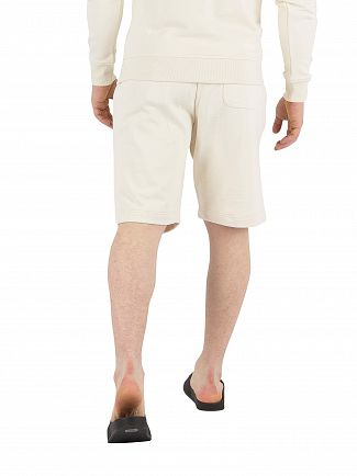 Lyle & Scott Seashell White Logo Sweat Shorts
