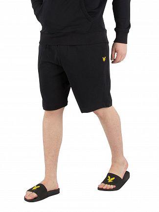 Lyle & Scott True Black Logo Sweat Shorts