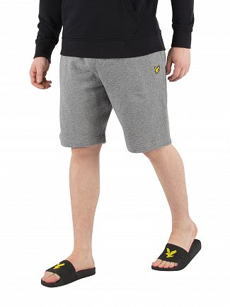 Lyle & Scott Mid Grey Marl Logo Sweat Shorts