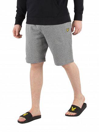 Lyle & Scott Mid Grey Marl Logo Sweat Shorts