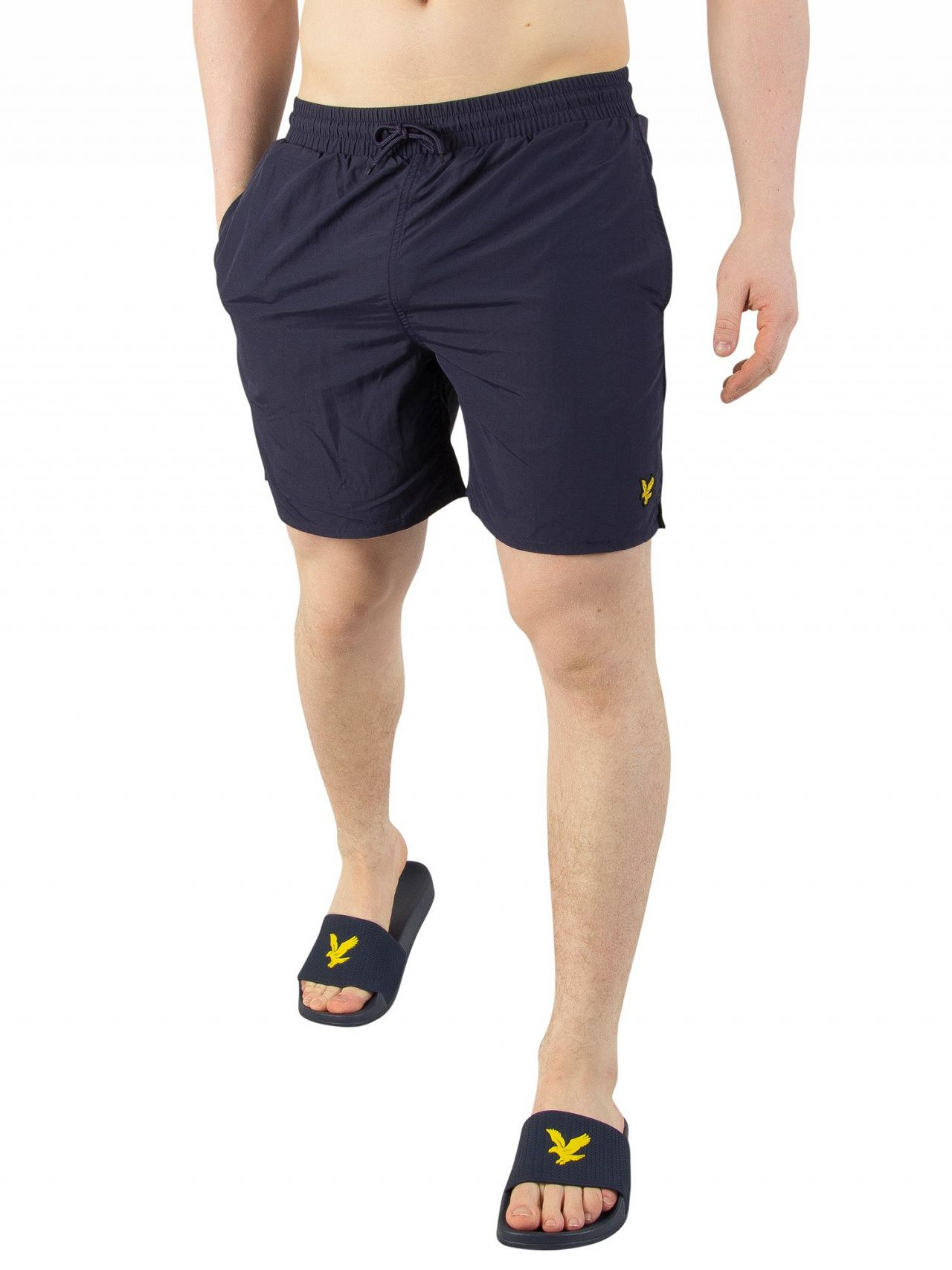 7da56bf627a74 Lyle & Scott Navy Plain Swim Shorts | Standout