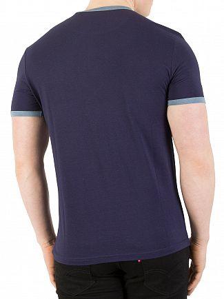 Lyle & Scott Navy Ringer T-Shirt