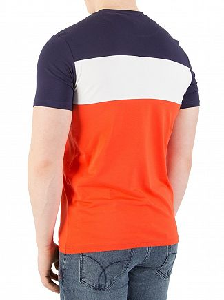 Lyle & Scott Paprika Casuals Slim Fit Block Stripe T-Shirt