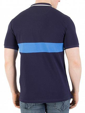 Lyle & Scott Navy Casuals Slim Fit Striped Pique Polo Shirt