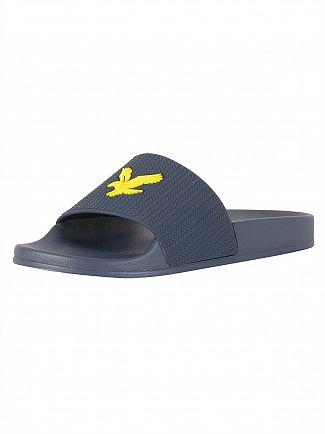 Lyle & Scott Navy Thomson Flip Flops