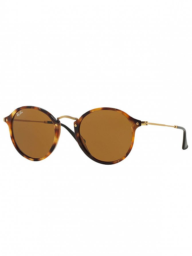 Ray-Ban Brown Acetate Round Fleck Sunglasses