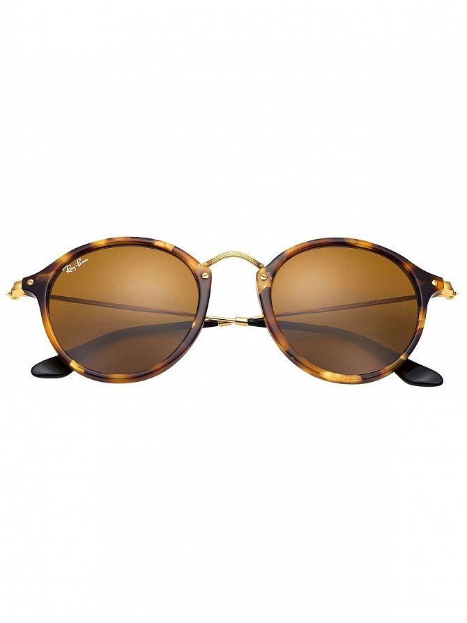 d4f49180c0 Ray-Ban Men s Acetate Round Fleck Sunglasses