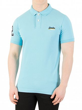 Superdry Barbados Blue Classic Pique Polo Shirt
