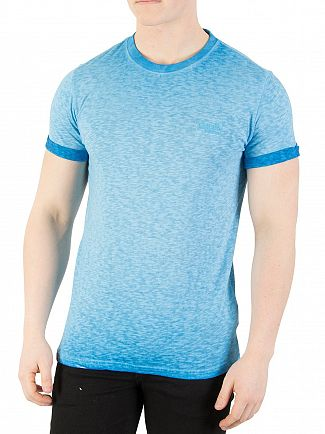 Superdry Deep Turk Orange Label Low Roller T-Shirt