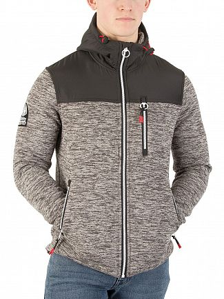 Superdry Charcoal Marl/Anthracite Black Storm Mountain Jacket