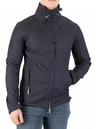 Superdry New Navy Marl/Black Windtrekker Jacket
