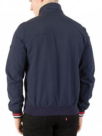 Tommy Jeans Black Navy Iris Basic Casual Bomber Jacket