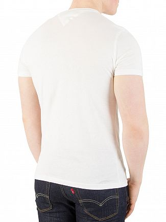 Tommy Jeans Classic White Slim Fit Graphic T-Shirt